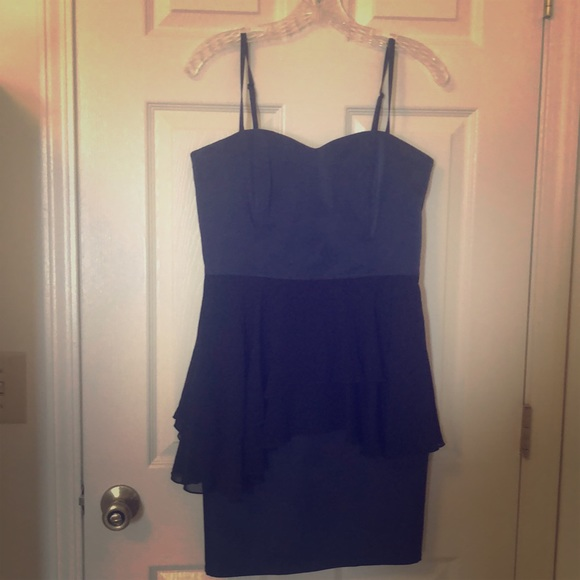 Hm Dresses Semi Formal Navy And Black Dress Poshmark